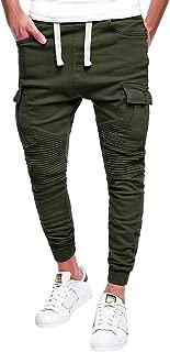 LINSINCH Pantalon Cargo Homme Jeans de Travail D/écontract/é /à Manches Longues pour Hommes avec Plis et Poches D/éContract/éEs lhiver Chaud Fitness