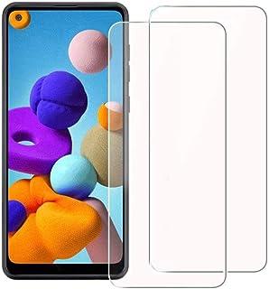 واقي شاشة من الزجاج المقوى لهاتف Samsung Galaxy A21 وA21s (عبوتان)