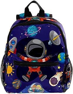 Mini Mochila Escolar Cohete Astronauta De Dibujos Animados Mochilas para niñas Mochilas para niños Mochilas para jardín de Infantes Mochilas pequeñas para niños de 3 a 8 años 25.4x10x30 CM