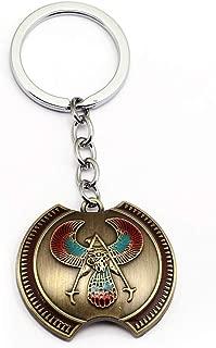 Mct12 - Assassins Creed Game Assassin's Creed Origins Keyring Eagle Logo Pendant Keychain Charm Gift Souvenir