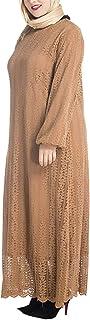 zhbotaolang Lace Maxi Dress Muslim Women Fashion Long Abaya Islam