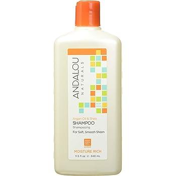 Andalou Naturals Argan Oil & Shea Moisture Rich Shampoo,Orange, 11.5 Ounce
