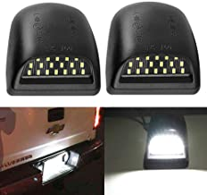 BlyliyB Full LED License Plate Lights Lamp SET Assembly Compatiable To Chevy Silverado, Suburban, Tahoe, GMC Sierra, GMC - Pack of 2