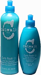 TIGI Catwalk Curls Rock Curly Hair 12-ounce Shampoo and 8.5-ounce Conditioner Duo