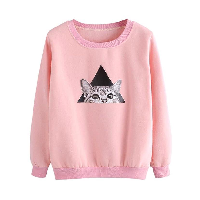 Women top, IEason Womens Ladies Cat Printing Long Sleeve Sweatshirt Pullover Tops Blouse