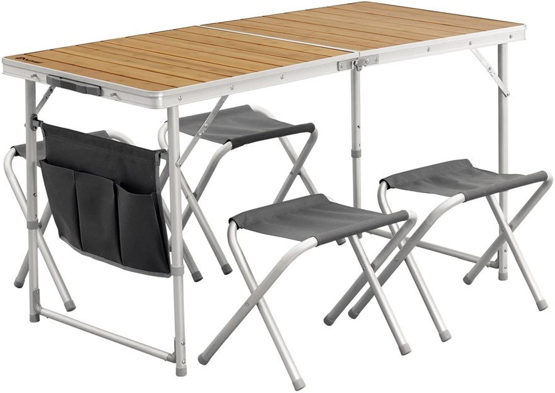 Outwell Marilla Picknicktisch-Set, Silber schwarz Bamboo, One Größe