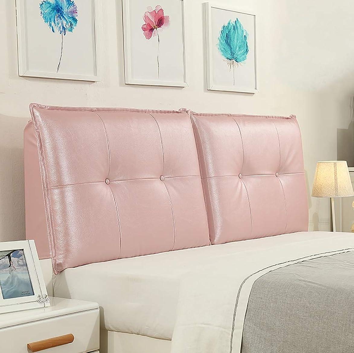 はげ熟考するようこそベッドクッションベッドサイドピローレザーラージピロー腰部サポート取り外し可能かつ洗濯可能12サイズあり (サイズ さいず : 160*10*60CM)