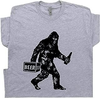 Bigfoot T Shirt Drinking Beer Funny Sasquatch Yeti Dive Bar Cool Vintage Famous Redneck Pub Tavern Men Women