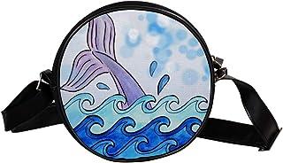 Coosun Wal-Umhängetasche, für Scrapbooking, Ozeanwal, rund, Umhängetasche, Handtasche, Handtasche, Umhängetasche, Schulter...