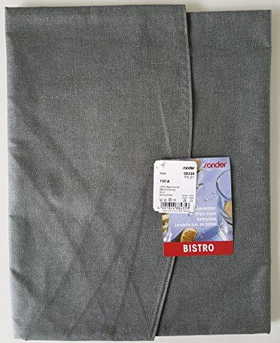 Sander BISTRO FOLIO Tischdecke abwischbar 150 cm rund in grau