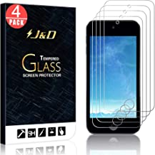 J&D Compatible for 4-Pack iPod Touch 2019 Glass Screen Protector, [Tempered Glass] [Not Full Coverage] HD Clear Ballistic Glass Screen Protector for iPod Touch (Release in 2019) Screen Protector