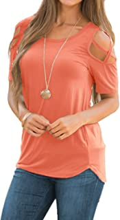 Best womens coral colored tops Reviews