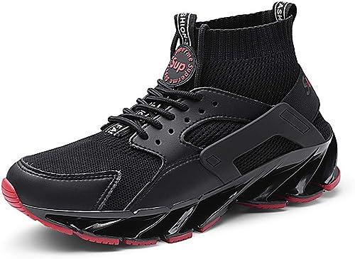 Chaussures de Course pour Hommes, Printemps Printemps et en été Confortables, Tube Haut Chaussettes Bas épais Bottes de Marche en Tricot Chaussures Sportives Chaussures de marée paniers extérieures  point de vente