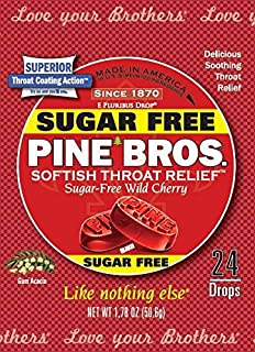 Pine Bros Throat Drops (Sugar Free (Wild Cherry))