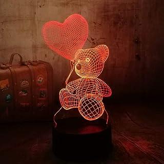 Múltiples colores Lindo gatito mascota 3D LED luz de noche dormir dibujos animados bebé lámpara de mesa Adornos Adornos ju...