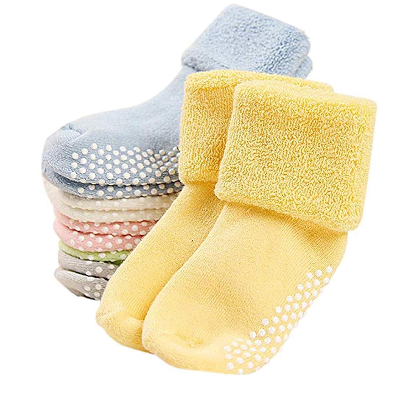Unisex Baby Socks Non Skid | Anti Slip Thick Cotton Socks 6 Pairs Packed