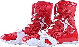 WJFGGXHK Wrestling Shoes, Mesh Boxing Boots Rubber Sole Wrestling Training Sneakers for Men&Women&Children Kids Teenage Un...