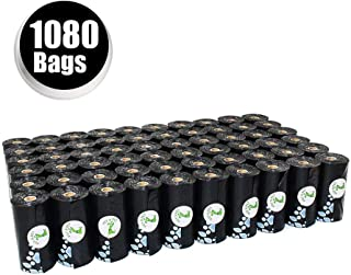 PET N PET Poop Bags Earth-Friendly Dog Waste Bags 1080 Counts Large Black Unscented 60 Rolls (Refill Bags)