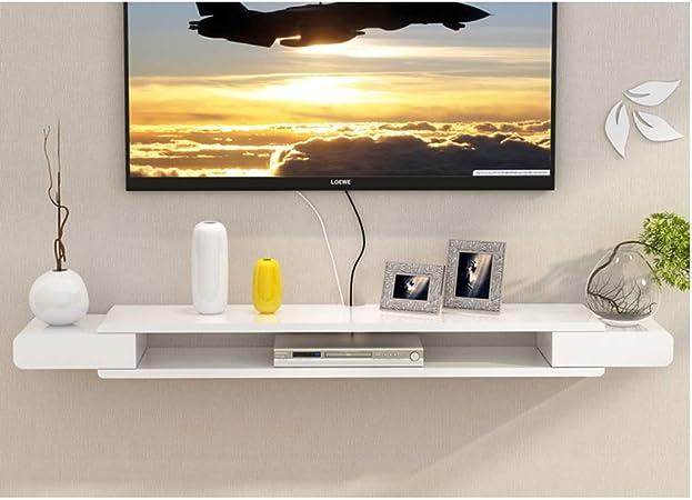 Color : Gray+Brown, Size : 120cm NVSBLT Wall-Mounted TV Rack Shelf Cabinet Media Entertainment Console Game Shelf Unit Satellite TV Box Cable Box Shelf