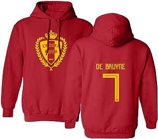 Tcamp Belgium 2018 National Soccer #7 Kevin DE BRUYNE World Championship Men's Hooded Sweatshirt