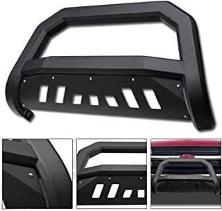 Bumper Grille Guard with Skid Plate and Optional Light Holes 4X4TAG Premium Quality Matte Black Powder Coated Carbon Steel Bull Bar Fits Chevy//GMC Yukon//Yukon XL 1500 2000-2006