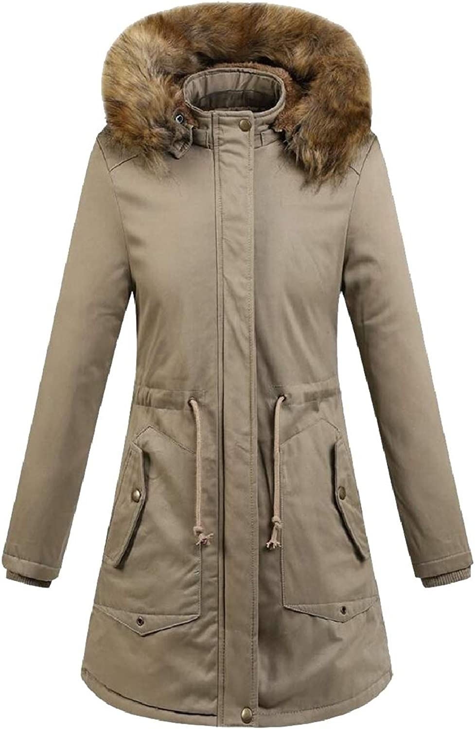 Xswsy XGCA Womens Thick Padded Faux Fur Lined FauxFur Collar Down Jacket Coat