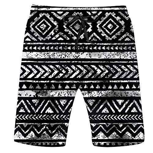 Geometric Print Your Textile Aztec Vintage Men's Swim Trunks Beach Short Board Shorts L