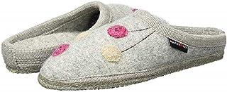 Haflinger Women's Walktoffel Solvejk Silver Grey Wool Slippers