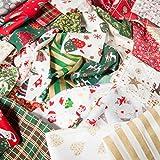 Weihnachtliches Stoffbeutel, 100 g, für Bastelreste, 100%