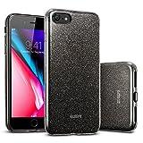 ESRHülle kompatibel mitiPhone8,iPhone7 Hülle, Glitzer Bling [Glänzende Mode][Dünn] Designer Schutzhülle für AppleiPhone8/7 4.7 Zoll 2017 - Schwarz