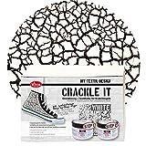Viva Decor Crackle it Set (Weiß) - Waschfeste Krakelier Stoffmalfarbe für Reißlack Effekte auf Textil -