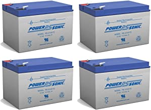 Power-Sonic Battery Replacement PS-12120F2 PS-12120 F2,12V 12AH EA. - 4 Pack