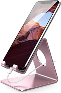 Cell Phone Stand, Lamicall Phone Cradle : Phone Dock, Holder Compatible with iPhone 12 Mini 11 Pro XS Max XR X 6 6s 7 8 Pl...