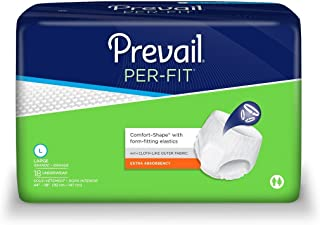Prevail Adult Underwear, PerFit Style, Size Large, Full Case of 72 (175-7392)