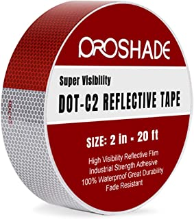 2'' × 20' DOT-C2 Reflective Tape, Reflector Conspicuity Tape Stickers High Intensity Waterproof for trailers,trucks,cars. (2'' × 20')