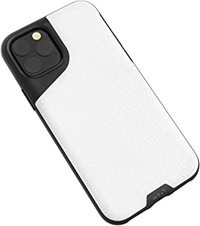 Mous - Protective Case for iPhone 11 Pro - Contour - White Leather - No Screen Protector