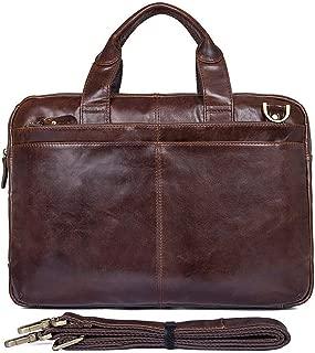 Mens Bag New Men's Briefcase Shoulder Bag Laptop Bag Leather Messenger Bag Business Casual Bag14-inch computer bag Mobile phone bag Tablet bag High capacity