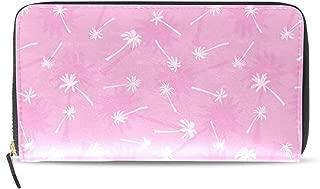 Banana Leaf Wrapping Paper Travel Wallet Double Folding Long Wallet Zipper Multi-card Bag Zipper Pocket Leather Zipper Buckle Elegant Clutch Bag Wallet