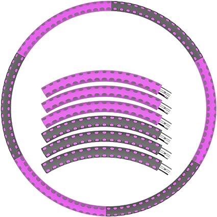 Fitness Ring kann frei erh/öht Removable Gewichtsverlust Ring mit Massagefunktion 6 Sections 1-4 kg mit Schaum gef/üllte Ring CKR Hula Hoop faltbar Fitness-Welle Abnehmen Ring