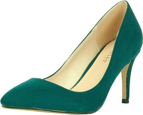 Calaier Femme Cadrum Designer Femme Plus Plus Taille Point Toe Chaussures Talon Haut Talon Chaussures 7CM Aiguille Glisser Sur Escarpins  meilleure vente