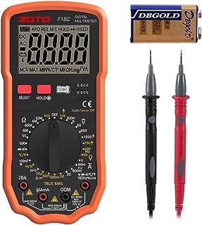 Multímetro Digital, ZOTO Polimetro 6000 cuentas con rango automático de AC DC Voltaje Tester Amperímetro