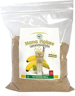 Nutritional Designs Nana Flakes 100% Pure Banana Flakes Medical Food Powder - Decrease Fat Intake & Natural Remedy for Diarrhea & Heart Burn - Great Source of Protein & Fiber (2 Pounds)