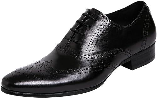 Insun - zapatos de cordones de Piel para hombre