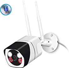 Outdoor WiFi Security Camera, 1080P Wi-Fi IP Camera Two Way Audio Motion Detection Remote..