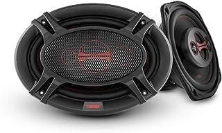 DS18 GEN-X6.9 Coaxial Speaker - 6x9, 4-Way, 180W Max, 60W RMS, Black Paper Cone, Two Mylar Dome Tweeters, 4 Ohms - Clarity...