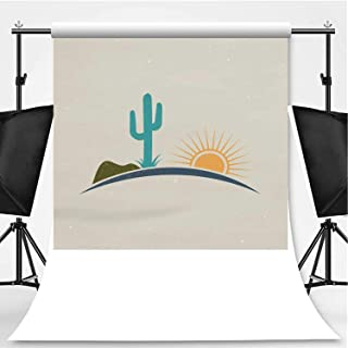 Desert jeffcyb Logo Vintage Style Photography Backdrop,107621 for Photography,Pictorial Cloth:5x7ft
