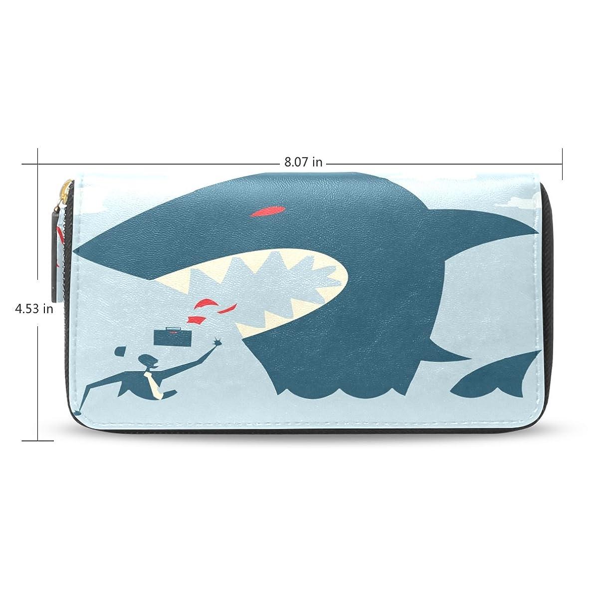 キャベツご意見上級USAKI(ユサキ) レディース ファスナー 財布,かわいい フカ 鮫,お札 小銭 カード入れ 大容量 長財布 入学式 卒業式 誕生日 プレゼント