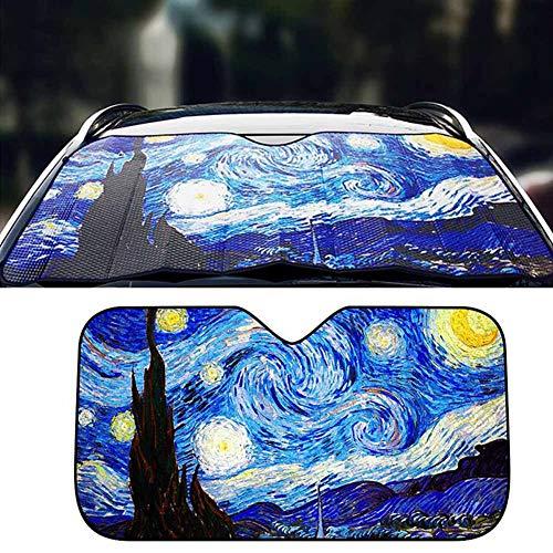 Autovoorruit Zonneschermen Auto Voorruit Schaduw Auto Zonnescherm Voorruit Cover Aluminiumfolie Schaduw Blind (Cloud)