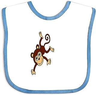 Monkey Cartoon Png Custom Baby Boy Bibs and Burps Teething Bibs for Infant