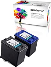 Printronic Remanufactured Ink Cartridge Replacement for HP 56 HP 57 for Deskjet 450 5550 5650 5850 9650 9680 HP Officejet 4215 5610 6110 HP Photosmart 7260 7350 7450 7550 7755 7760 (1 Black, 1 Color)